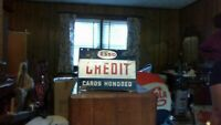 """Esso Vintage Gas Oil Station Credit Card Porcelain Sign Standard Oil 18"""" X 14"""""""