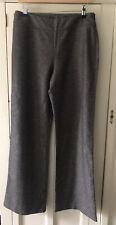 Laura Ashley Size 12 Wool Mix Herringbone Brown Trousers