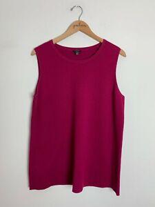 Talbots Pink Sleeveless Cotton Blend Knit Tank Top 1X Plus