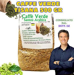 CAFFE VERDE MACINATO Green Coffee BRUCIA GRASSI PERDI PESO TISANA 500 GR