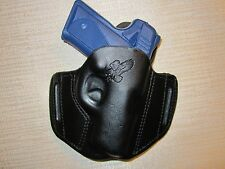 KIMBER SOLO CARRY, FORMED LEATHER PANCAKE HOLSTER, OWB BELT HOLSTER, RIGHT HAND