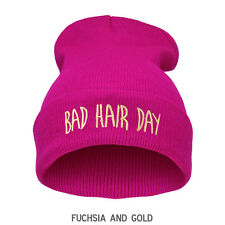 Oversized BEANIE HAT Fashion Unisex Justin BAD HAIR DAY  Warm Winter Knit Baggy