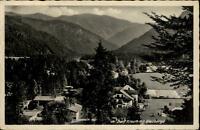 Kreuth Bayern AK alte Postkarte 1940 gelaufen Gesamtansicht mit Blauberge