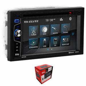 "BOSS 6.2"" 2 DIN Touchscreen Radio with Bluetooth , AUX, DVD, USB, CD, & Remote"