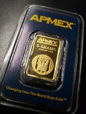 5 Grams .9999 Gold Apmex Bar Sealed