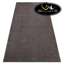 Best Carpets Hardwearing SAN MIGUEL brown thick plain one colour Rugs any size