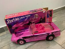 BARBIE ULTRA VETTE Corvette Pink Metallic Car, Vintage 1985, Mattel