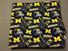 "University of Michigan Wolverines Cotton Fabric, 1/2 Yard, 18"" x 42"", New"