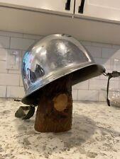 chromed parade m1 helmet is army rear seam swivel bale