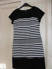 Ladies dress, black and white stripe, size10 NWOT from BHS