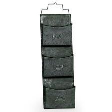 ACCIAIO zincato grigio in metallo muro Indoor Outdoor Storage Organizer Cassetta delle lettere