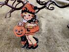 """Repro Vintage 1900s Girl,Witch Doll Halloween Cardstock Decoration,4"""",5"""" OR 6"""""""