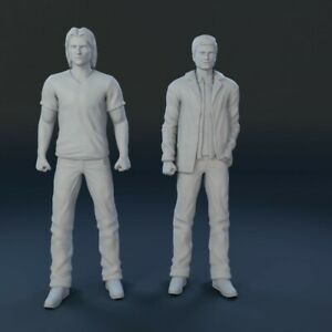 SUPERNATURAL DEAN and SAM 2 Figure Set CW TV SHOW 1/24 Scale 3D Printed