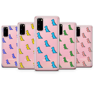 Cute Dinosaur Phone cases kids boy girl cartoon CLEAR game covers Samsung A20e