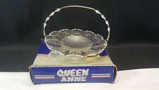 Queen Anne Silver Plated Tableware 9 Inch Cake Basket and Boxed
