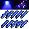 10x Marine Boat Blue LED Utility Strip Light Bar Courtesy Lights 6LED 12V Sealed