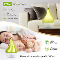 LED Light Ultrasonic Aroma Diffuser Humidifier Aromatherapy Essential Oil 177mL