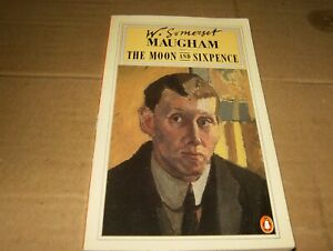The Moon And Sixpence by W. Somerset Maugham, Paperback Book,Good-Shape,1987.