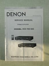 Denon DCD-700/500 Stereo CD Player Service Manual
