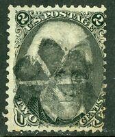USA 1863 Black Jack Jackson 2¢ Scott # 73 No Grill Fancy Cancel O674 ⭐⭐⭐⭐⭐⭐