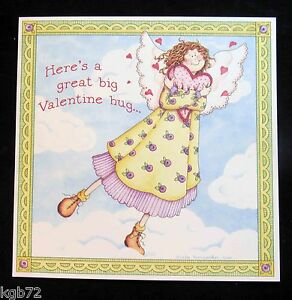 Leanin Tree Valentine Card Valentine's Day Angel Angels Romance Love V61