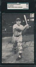 1952 Brooklyn Dodgers Gil Hodges Ebbets Directions Schedule SGC Graded