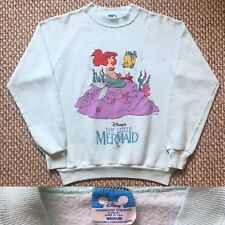 Vintage Vtg 1980s 80s Rare Disney The Little mermaid Sweatshirt Usa