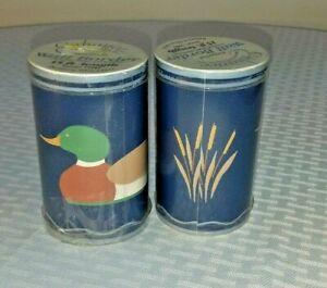 2 Vtg 1985 Mallard Ducks Cattails Pre-pasted Wallpaper Border Rolls 30' NOS