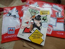 Qatar Airways Monopoly bag and book collectable Monopoly activity book