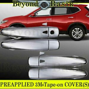 For 2014 15 16 17 2018 2019 2020 Nissan Rogue CHROME Door Handle COVERS W/2 SMK