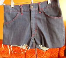 30W sz 18 SEXY Vintage 70's Womens DISCO DENIM JC PENNEY CUTOFF DISCO SHORTS