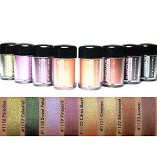 8 PCS Kleancolor Loose Pigment Eyeshadow for Eyes & Face chrome finishes ES1114