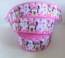 Yard Disney Baby Minnie Mouse Bow Corazones de Cinta de Grogrén carácter #7