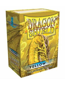 Dragon Shield Classic Yellow 100 Standard Size (63 mm x 88 mm) Card Sleeves