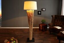 Lámpara de pie 175cm Moderno Hecho madera combustible IMPRESIONANTE a Mano Salón
