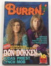 BURRN Japan Magazine 10 1990  DOKKEN COVER
