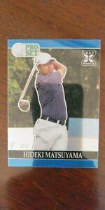 Hideki Matsuyama 2021 Leaf Pro Set Metal Golf PRISMATIC BLUE 12/60 Rookie RC PGA