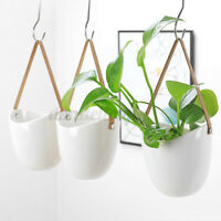 Wall Hanging Plant Flower Succulent Pots Ceramic Planter Holder Home Garden Dec