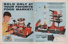 Old Print. OPERATION X-500 ROCKET LAUNCHER AND DEFENSE BASE Toy Ad