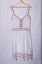 NEW Living Dead Souls Pinup Eyelet White Dress Rockabilly size XL NWT #A106