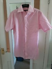 Pink Short Sleeved Shirt Neck Size 14.5 Inches George