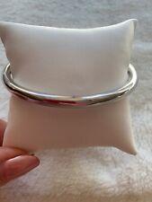 BNWT Melanie Auld Bangle Stackable Bracelet in Sterling Silver Ove14K White Gold