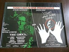 Movie Poster Ghoul Original Peter Cushing I Don't Want To Be Born Horror Film 75