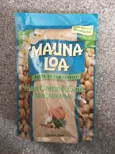 Mauna Loa Macadamia Nuts 10 Oz Bag Maui Onion And Garlic New Exp 08/2021