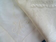 More details for two large antique silk handkerchiefs one in jacquard weave design
