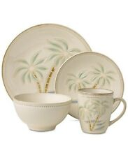 Pfaltzgraff Palm 16-Piece Stoneware Dish Set - Service For 4 - Beach