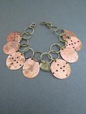 Vintage Modernist Bracelet Brass Copper