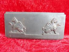 sublime,ancien relief __ plaque réfractaire__ ailes Créature Légendaire__ fer