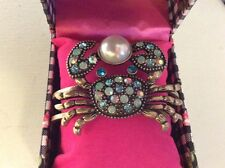 Betsey Johnson Brass Tone Crab Hinge Bangle Bracelet $35 in Box BN2
