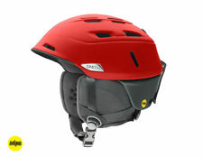 Smith Optics Men's MIPS Camber Snow Helmet in Matte Fire Split, Size Large